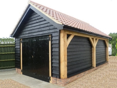 Single Bay Cartlodge for Classic Car Storage. Suffolk