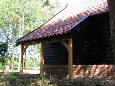 Woodshed on 2 Bay Cart Lodge