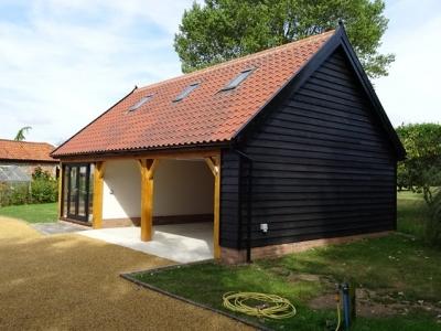 3 Bay Cart Lodge with Annex Above: kitchen dinner, shower room, bedroom. South Norfolk