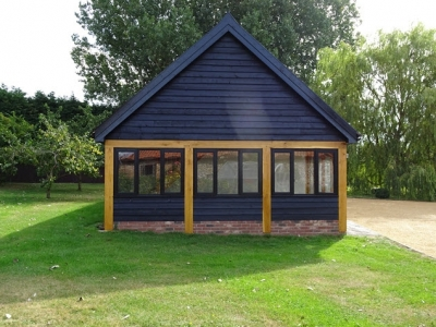 3 Bay Cart Lodge with Garden Room. South Norfolk