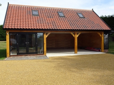 3 Bay Cart Lodge with Enclosed Garden Room. South Norfolk