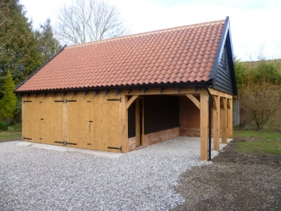 3 Bays Cart Lodge with Rooms Above. Forward Green, Stowmarket