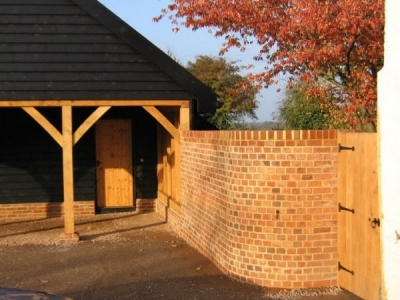 Wall and Gate to finish newly built Cart Lodge. Debenham