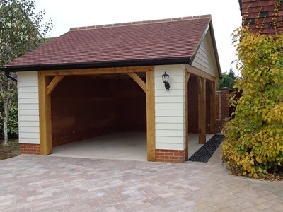 New block paved drive by Suffolk Cartlodges