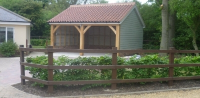 New Drive to newly built Cart Lodge in Norton