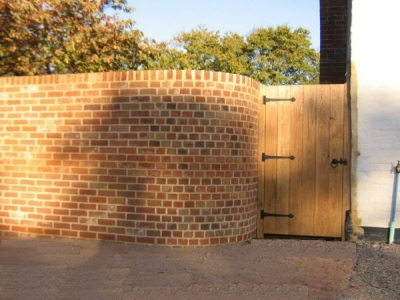 Wall and Gate to finish newly built Cart Lodge